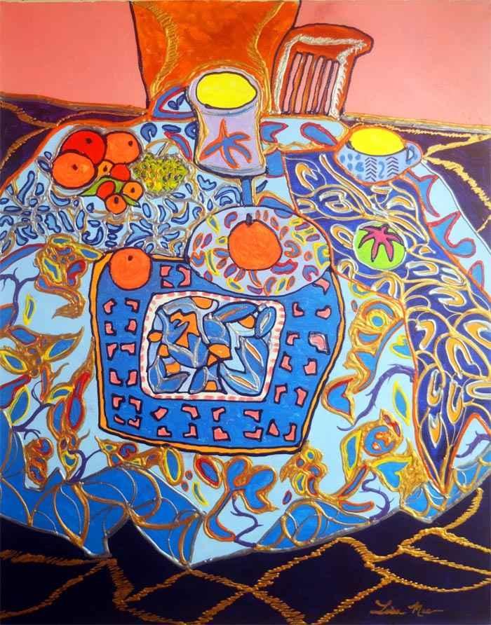 Indigo Tapestry with ... by  Lisa Mee - Masterpiece Online