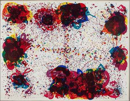 Lyre Eight  by  Sam Francis