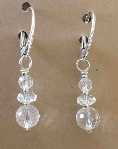 Rock Crystal Earrings... by Ms. Nancy Going - Masterpiece Online