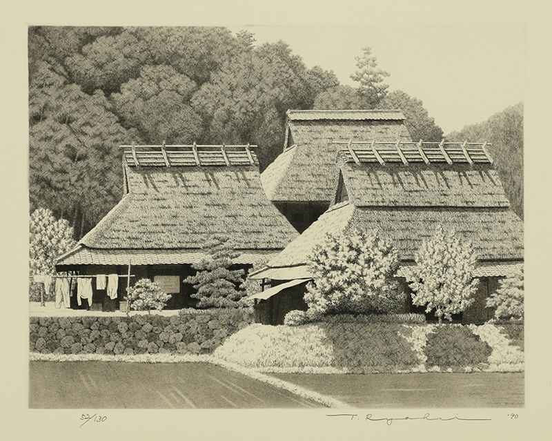 Three Thatched Roofs ... by  Ryohei Tanaka - Masterpiece Online