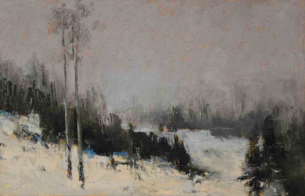 Winter Aspens (study)