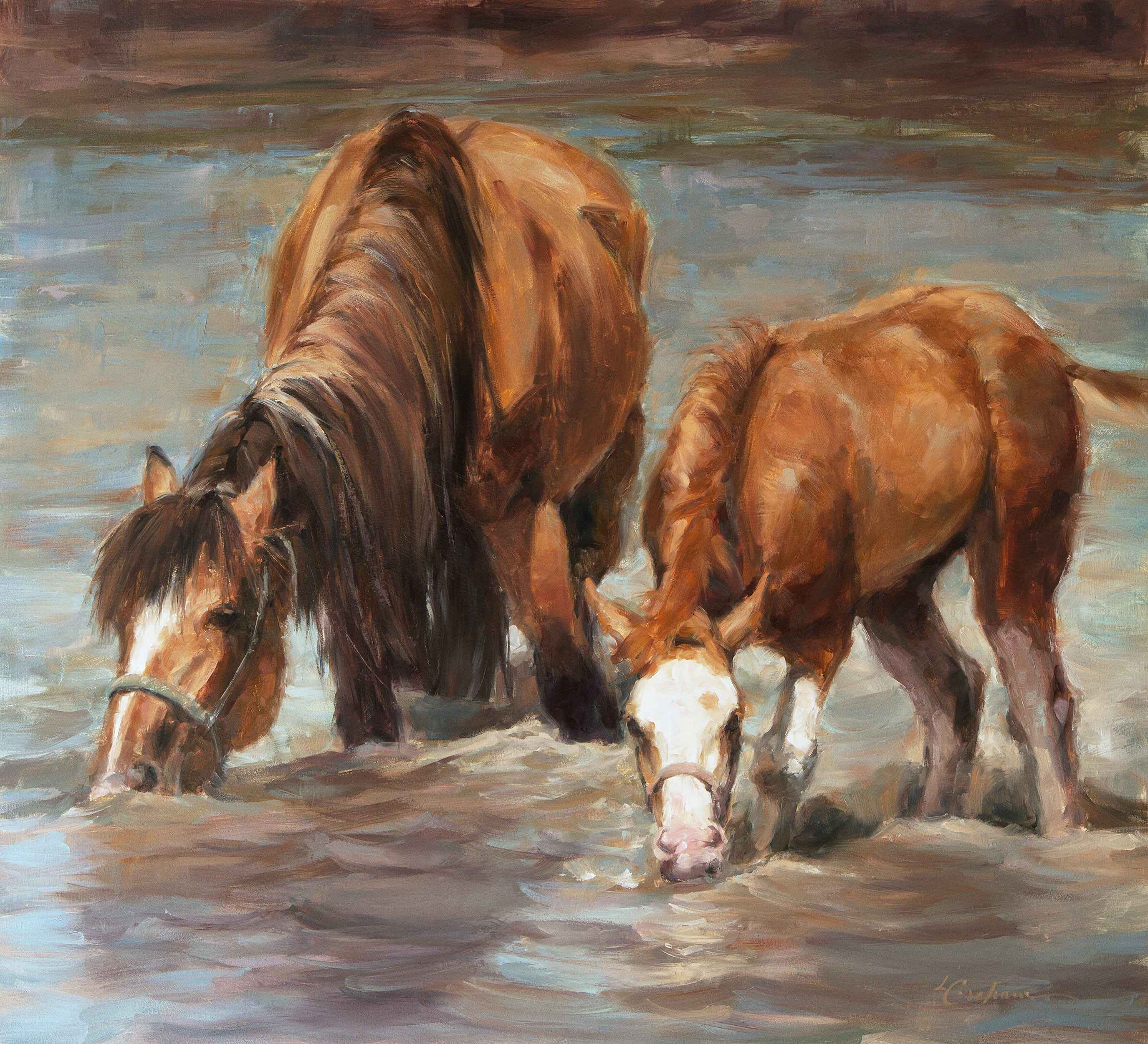 Testing the Water by  Lindsey Bittner Graham*** - Masterpiece Online