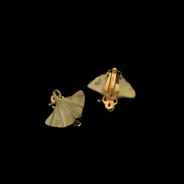 Gingo Clip Earring- Bronze