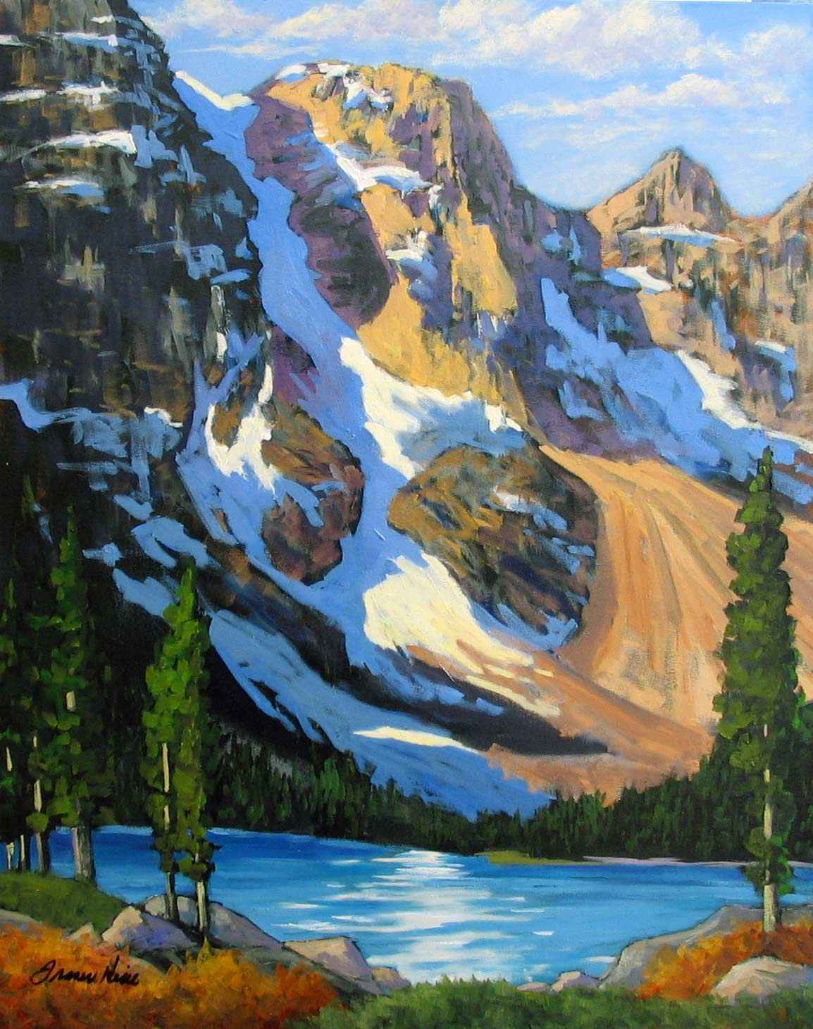 Valley of the Ten Pea... by  Fraser Hine - Masterpiece Online