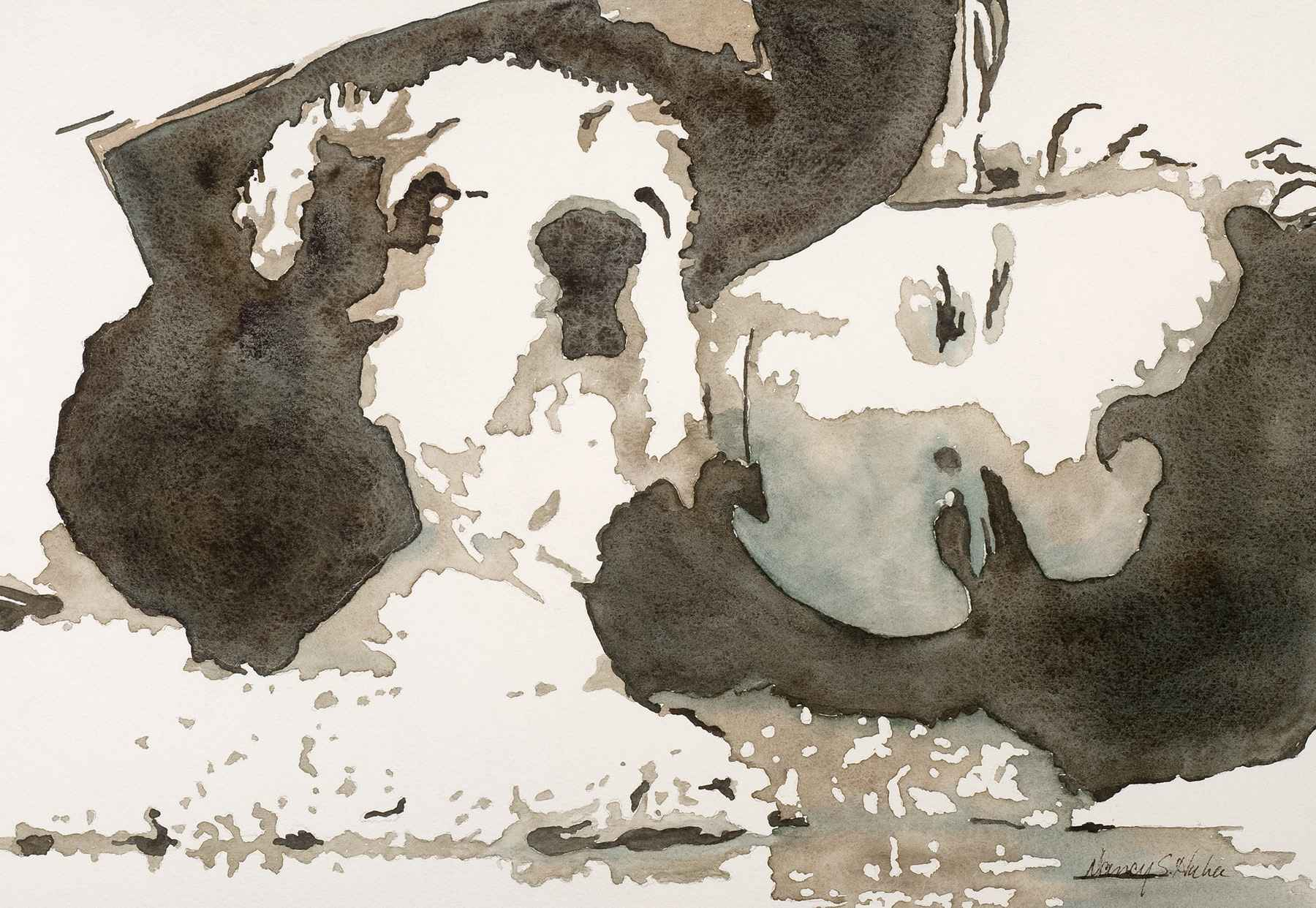 A Boy and His Dog by  Nancy Huber - Masterpiece Online