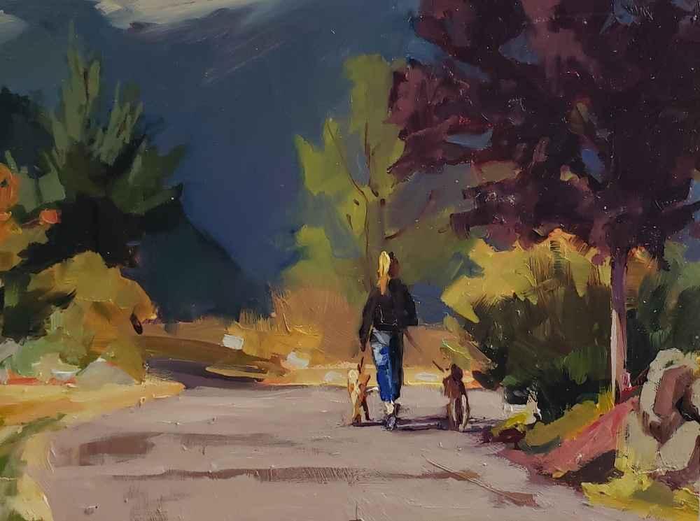 Dog Walk by  Robin Weiss - Masterpiece Online