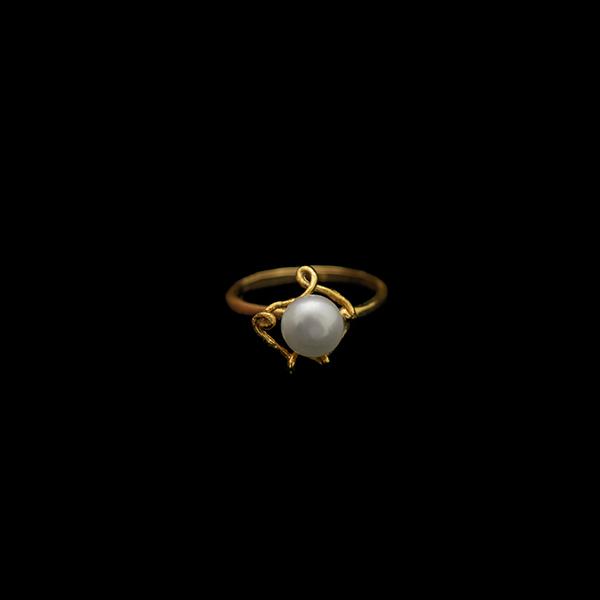 Pea Pod Single Pearl - Adjustable Ring