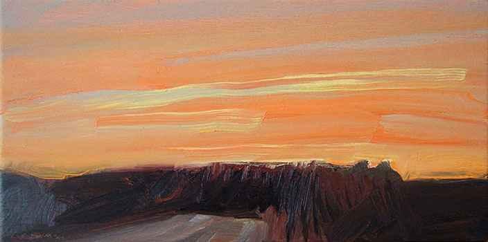 River Road - Orange a... by  Lisa Grossman - Masterpiece Online