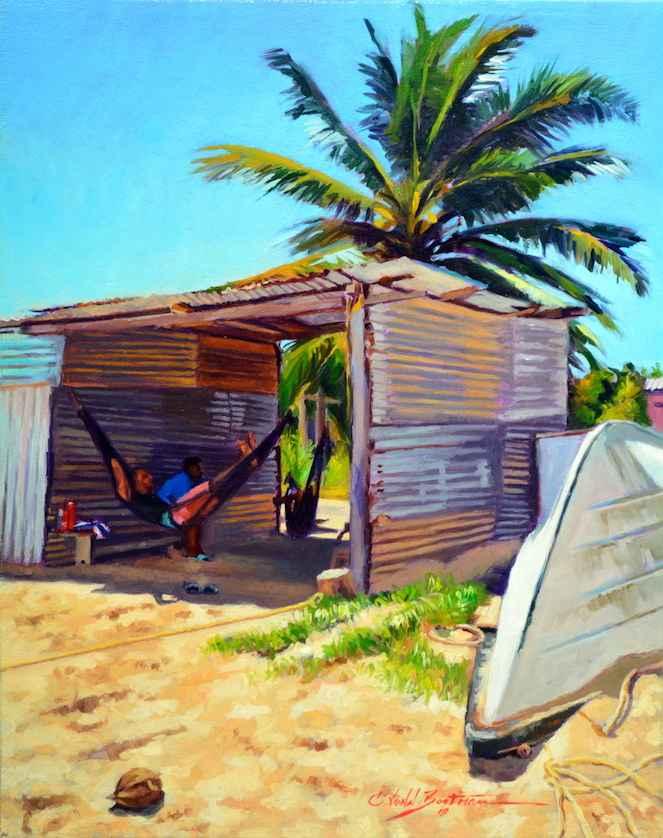 Hammocks in Shade by  Colin Bootman - Masterpiece Online