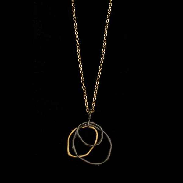 Petite Driftwood 3 Link Pendant Necklace 18