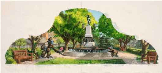 Hyde Park Square  by  Jonathan Queen
