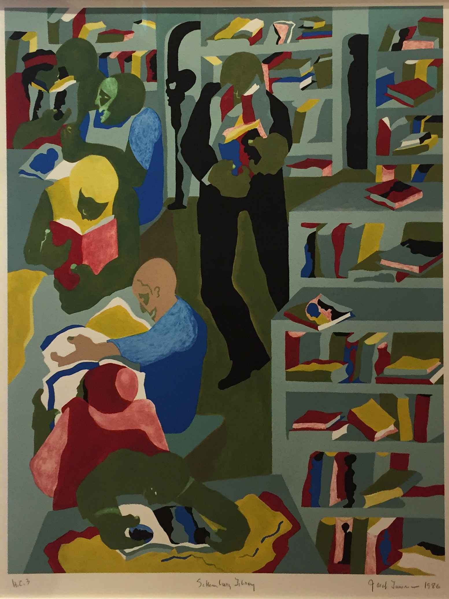 Schomburg Library 1986 by  Jacob Lawrence - Masterpiece Online