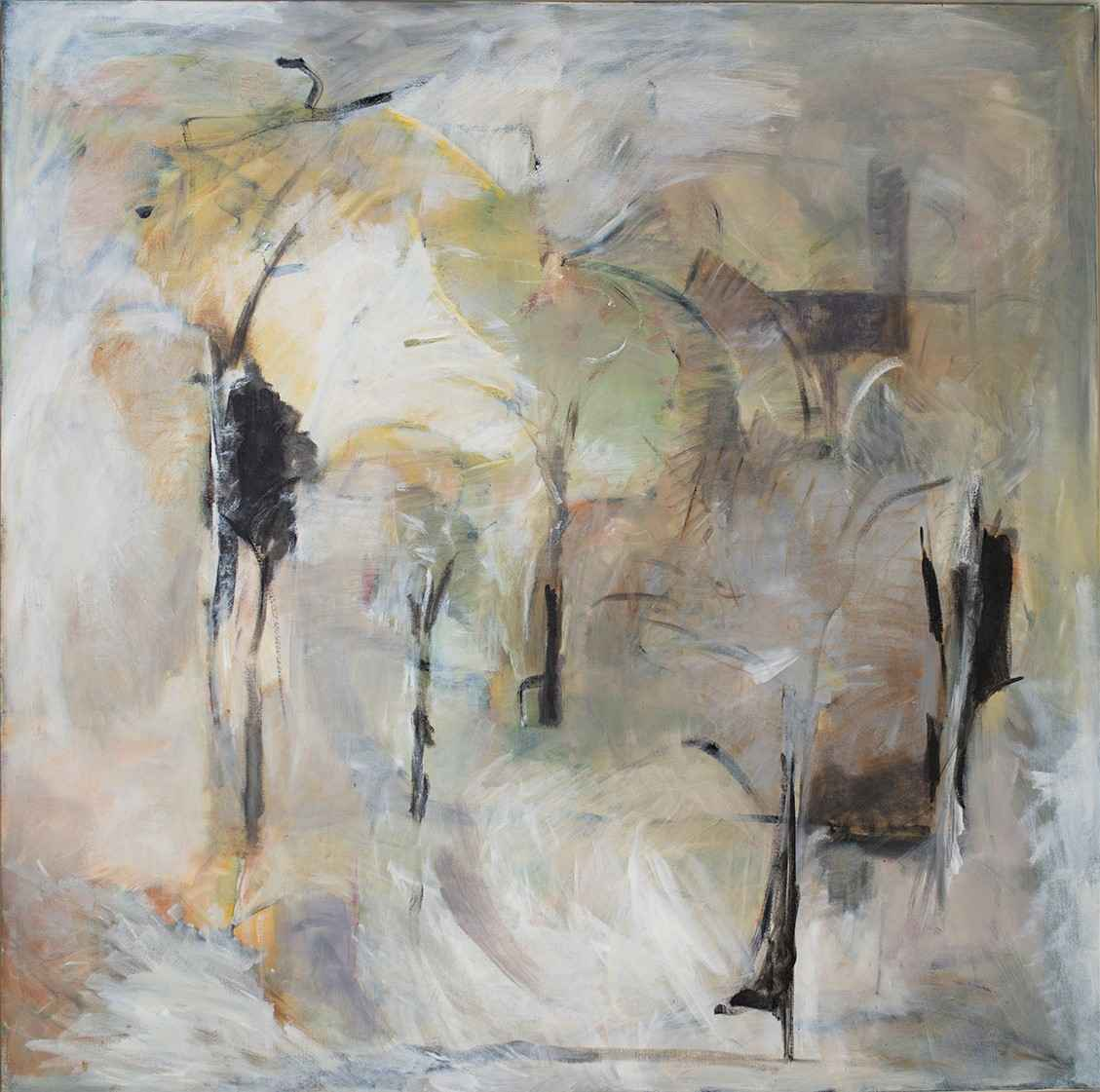 Untitled (White Abstr... by  Kay Kittell - Masterpiece Online