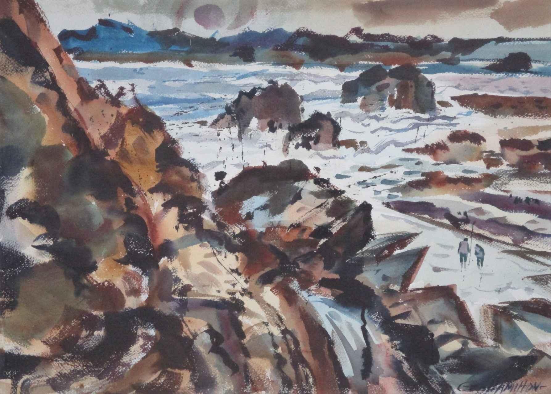 Unknown (Beach walker... by  George Hamilton - Masterpiece Online