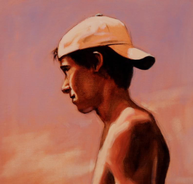 Summer Boy, Study by  Jeanne Staples - Masterpiece Online