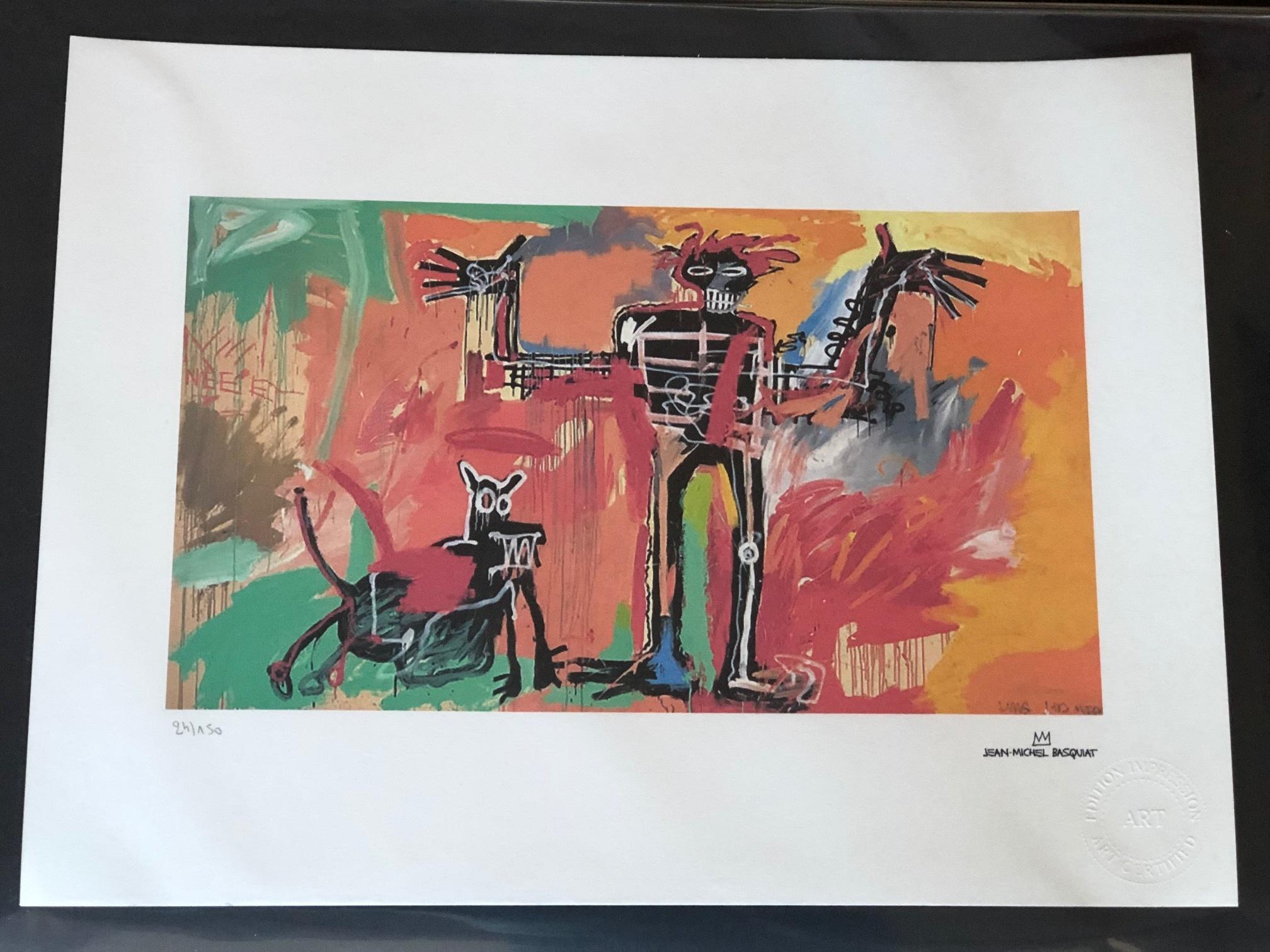 Boy & Dog in a Johnny... by  Jean-Michel Basquiat - Masterpiece Online