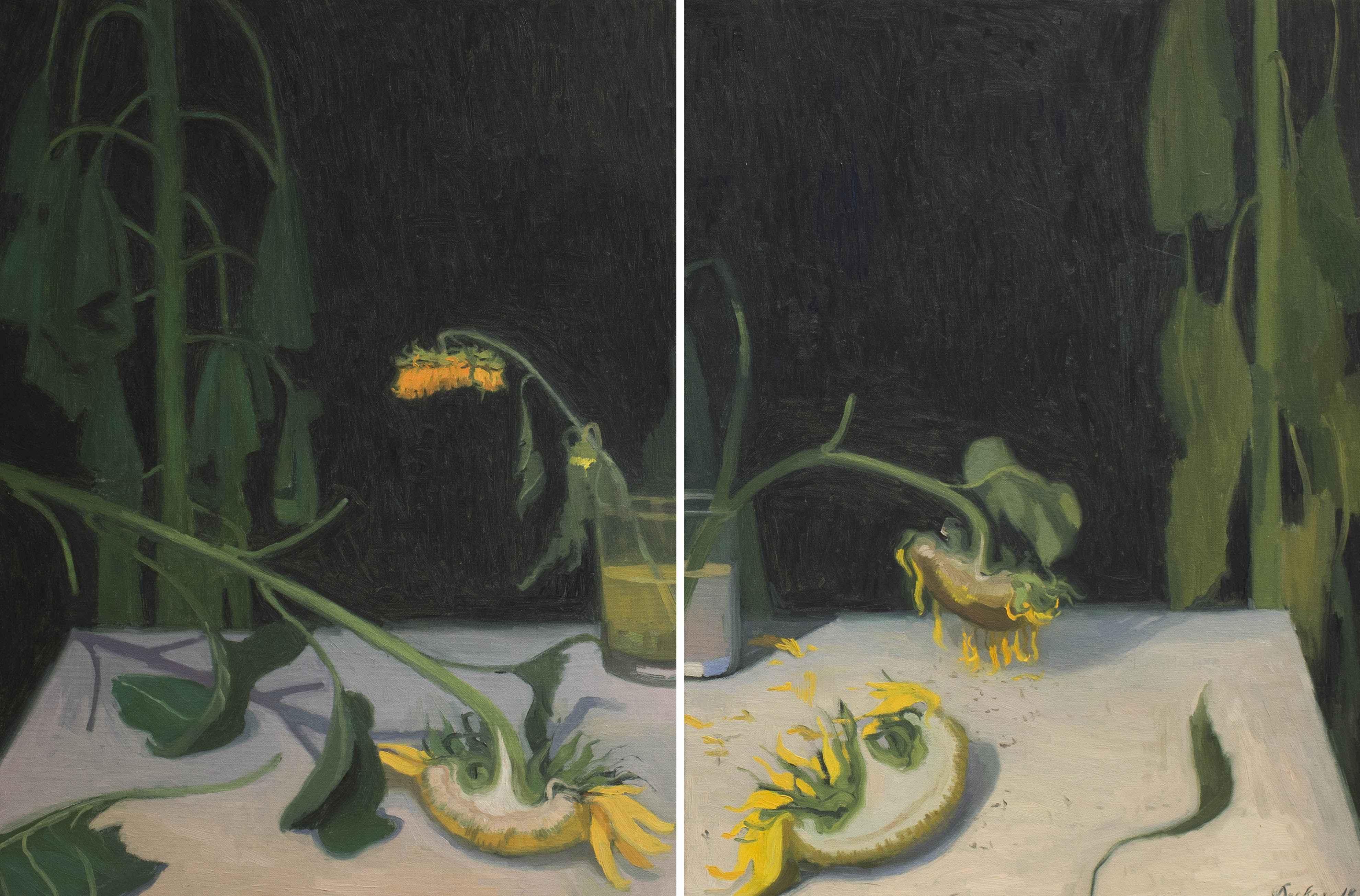 Sunflowers Diptych by  Max Decker - Masterpiece Online