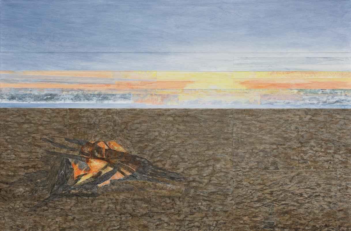 Driftwood Fire by Ms. Gwen Davidson - Masterpiece Online