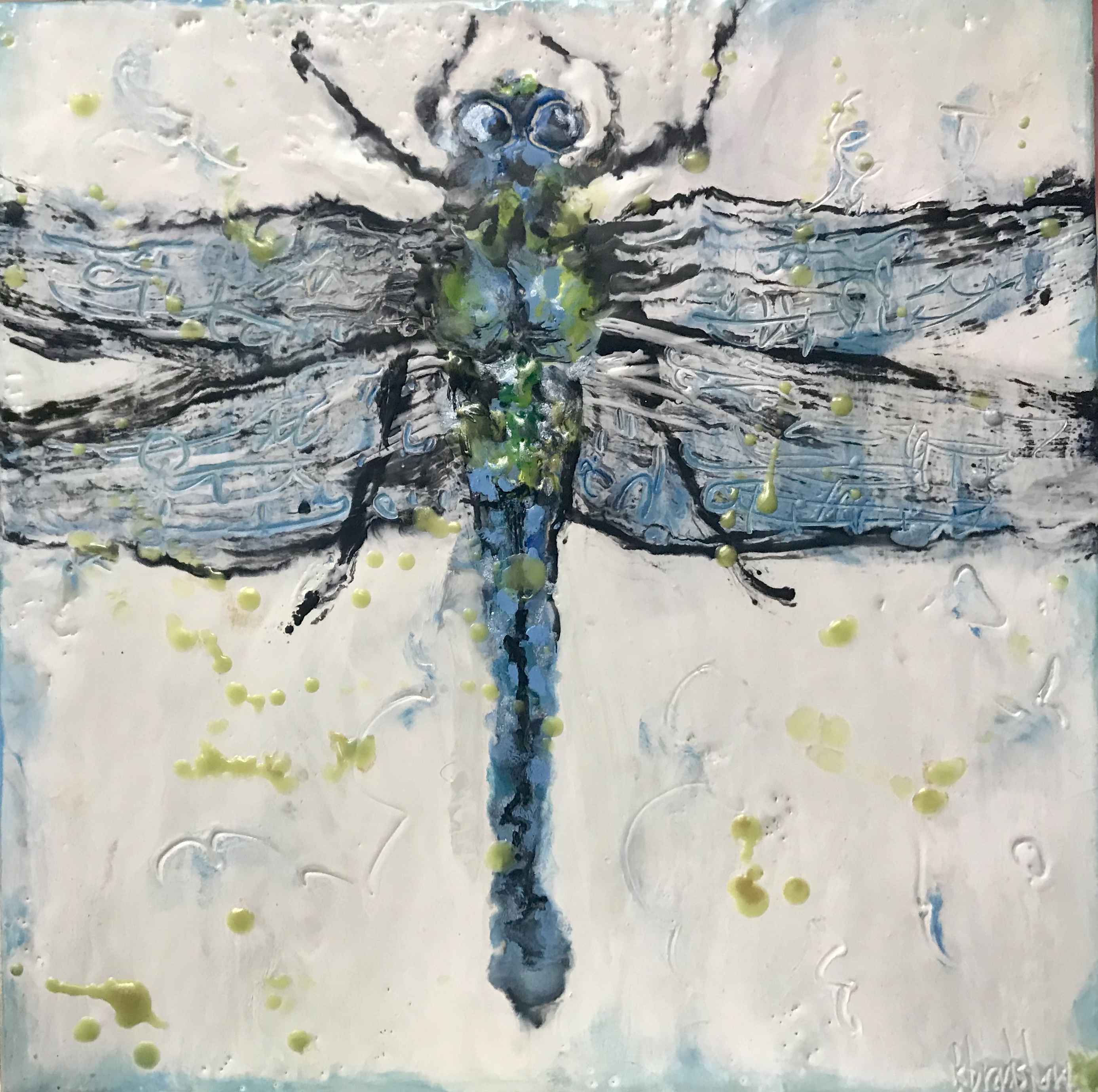 Blue Dragonfly by  Kathy Bradshaw - Masterpiece Online