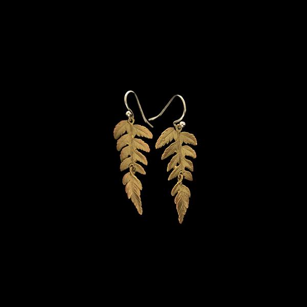 Fern Large Single Leaf Wire Earrings