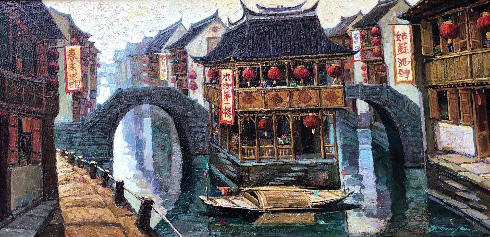 Su Zhou Watertown by  Dongmin Lai - Masterpiece Online