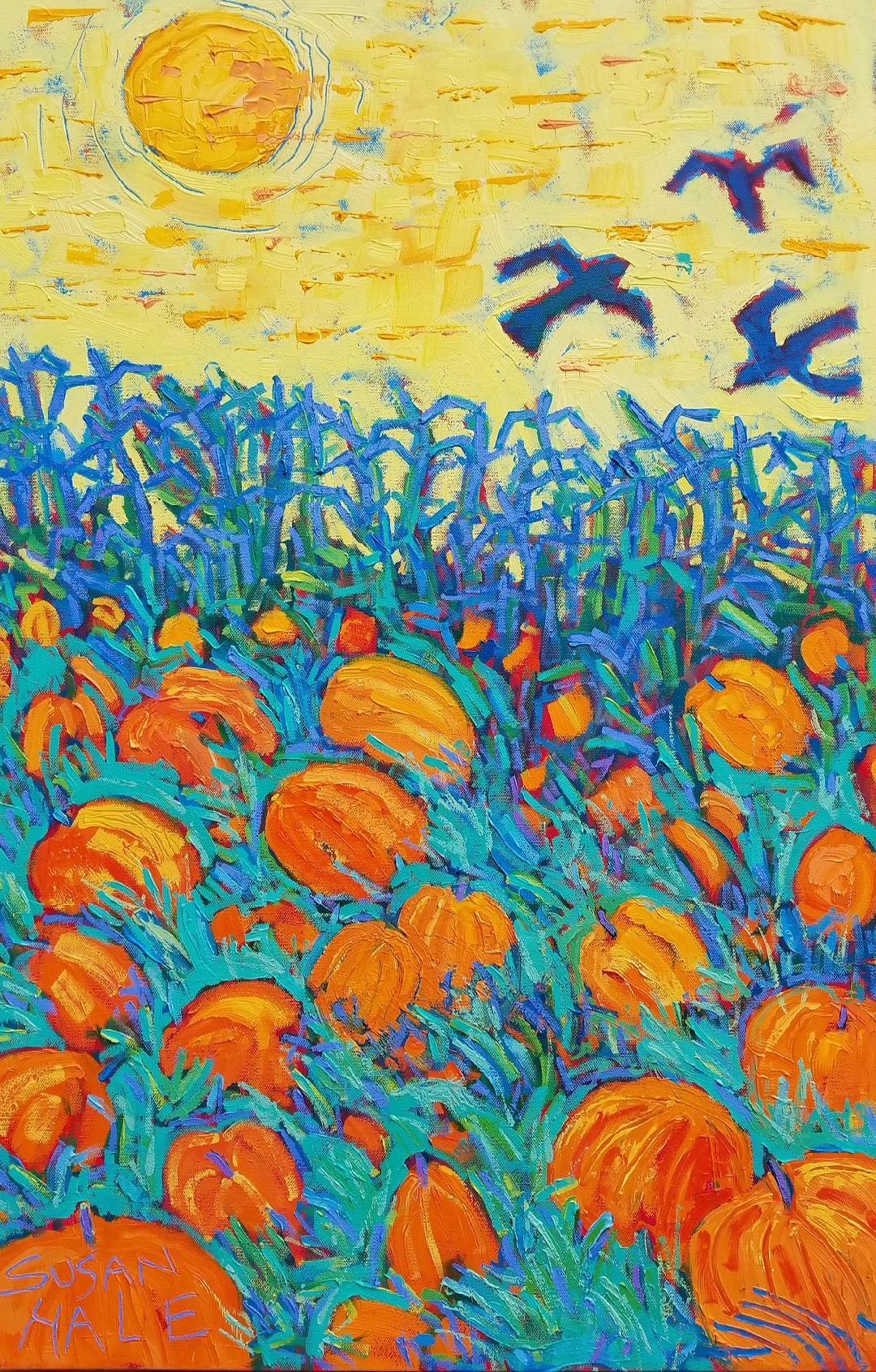 Flight Over Pumpkin Patch