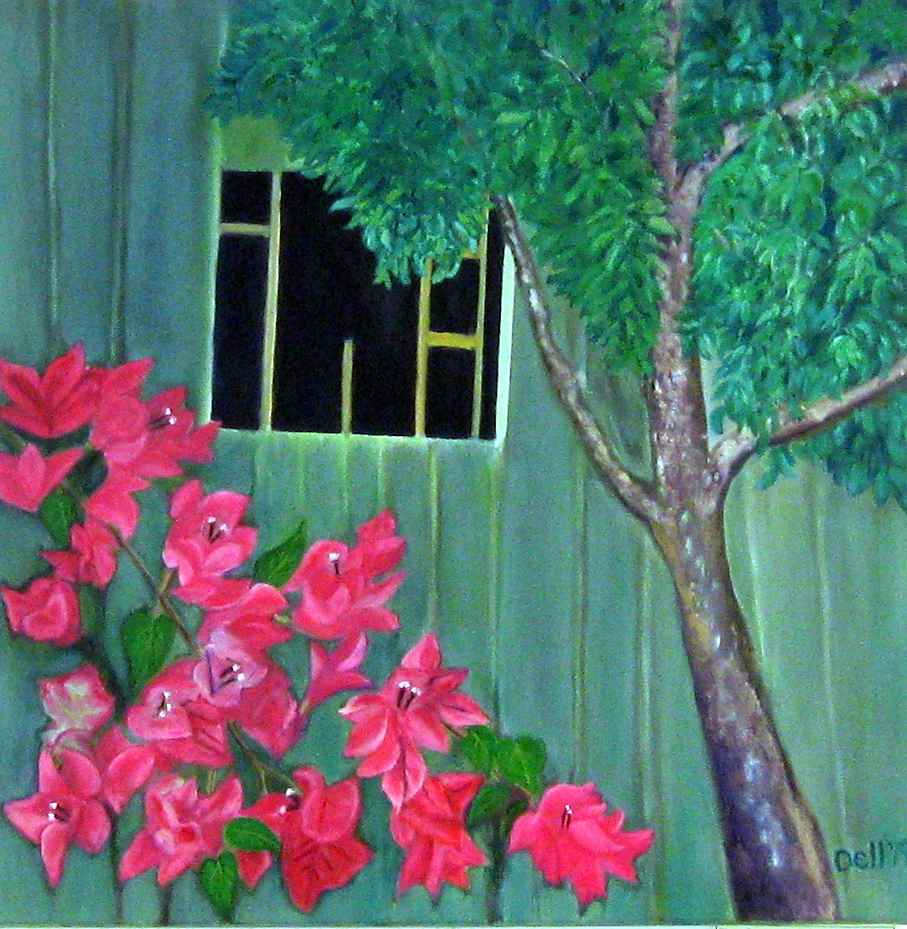 Blooms and Old Barn by  Jeanette Dellimore - Masterpiece Online