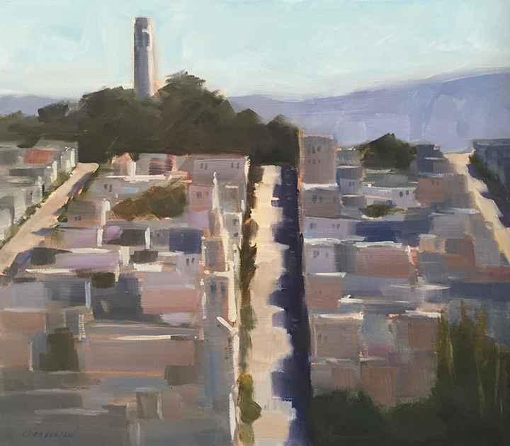 Telegraph Hill by  Michael Chamberlain - Masterpiece Online