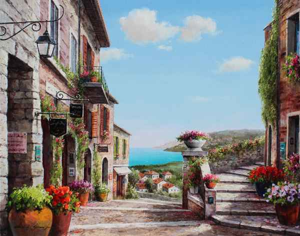 Down the Pathway by  Soon Ju Choi  - Masterpiece Online