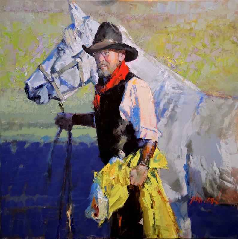 Red Scarf by  John Cook - Masterpiece Online