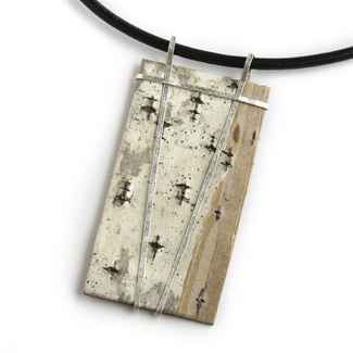 Nordic Necklace Natural Birchbark on 17