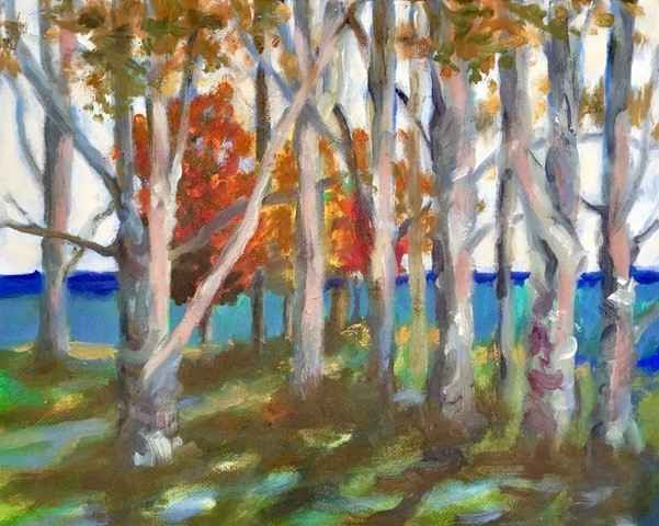 Untitled (Beach Trees) by  Mary Theisen - Helm - Masterpiece Online