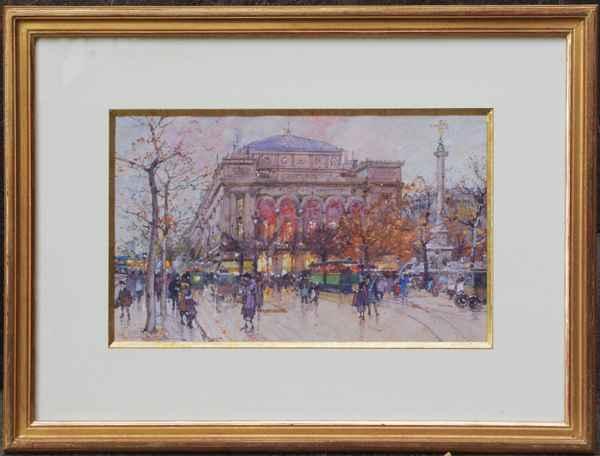 Place du Chatelet by  E. Galien Laloue  - Masterpiece Online
