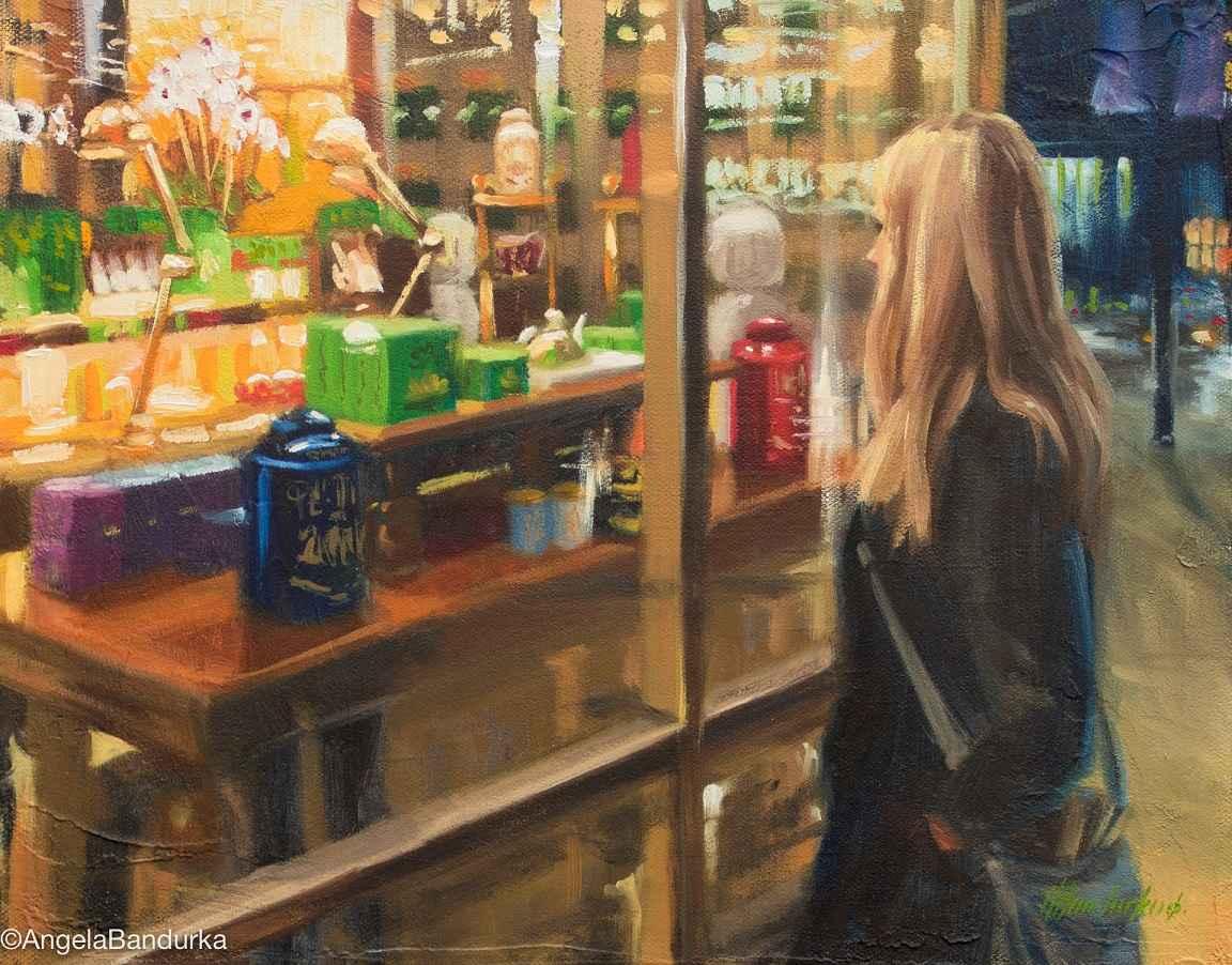 The Tea Shoppe  by  Angela Bandurka