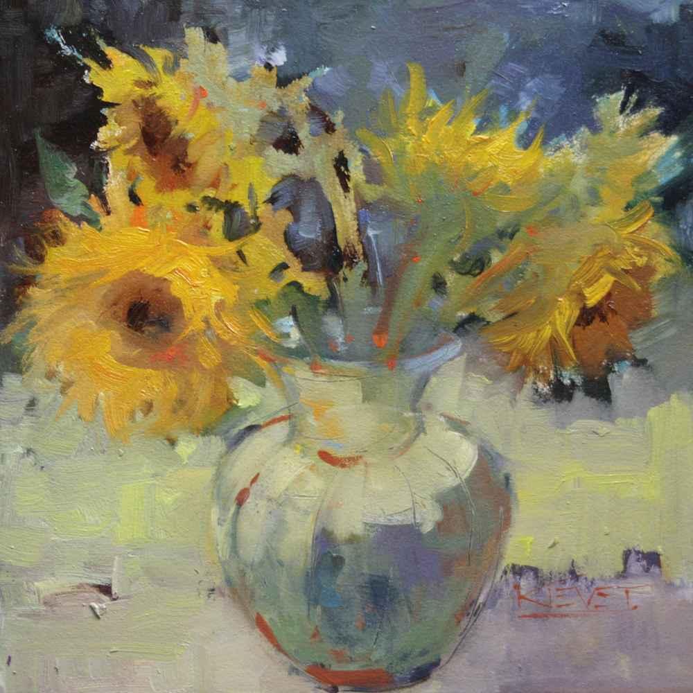 Sunflowers by  Fran Kievet - Masterpiece Online