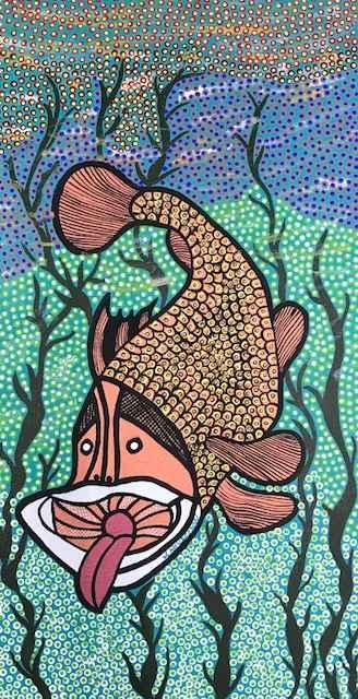 Grouper Feeding by Mrs Joyce Henderson - Masterpiece Online
