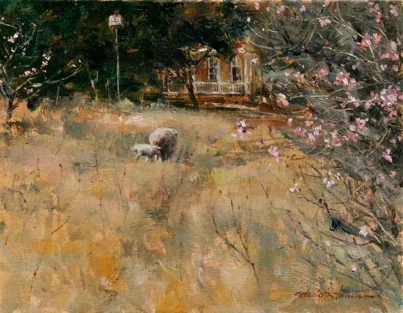 Peach Blossoms - Gicl... by  John Austin Hanna - Masterpiece Online