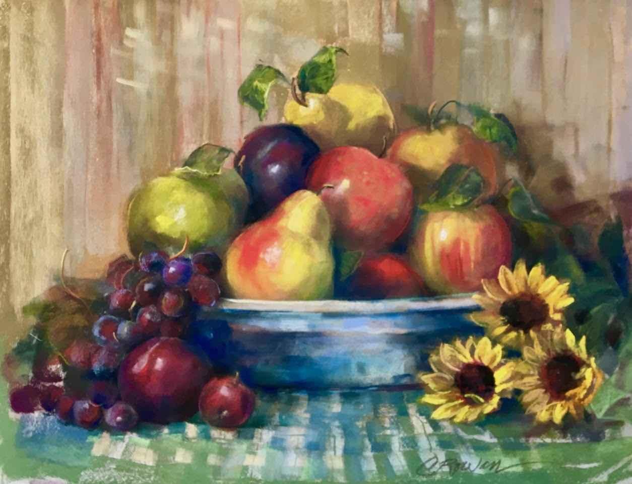 Christmas Fruit Still... by  Carol Rowan - Masterpiece Online