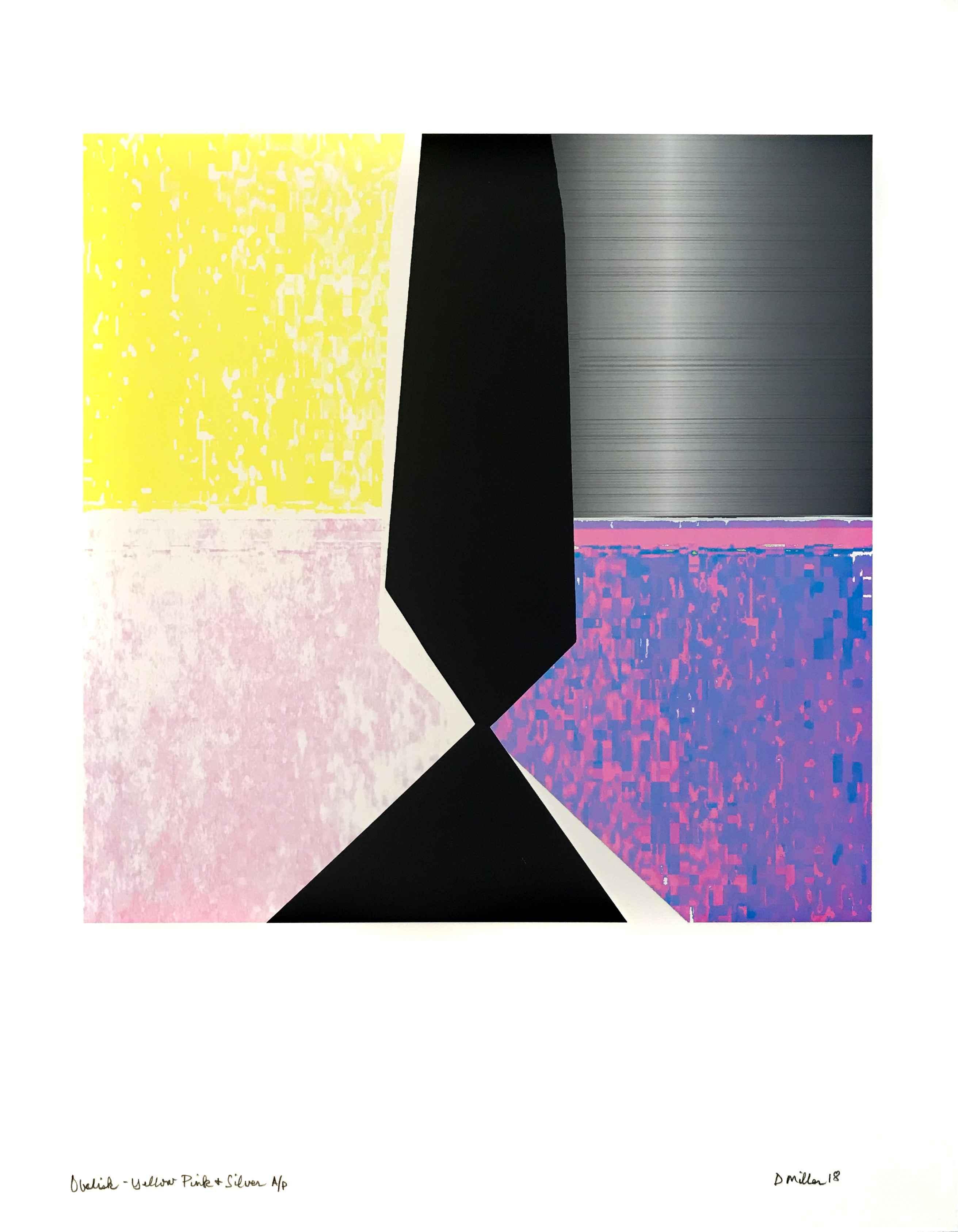 Obelisk- Yellow Pink ... by  David Miller - Masterpiece Online