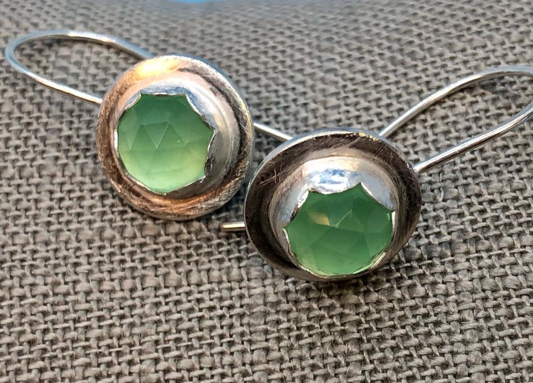 Lime Chalcedony Earrings