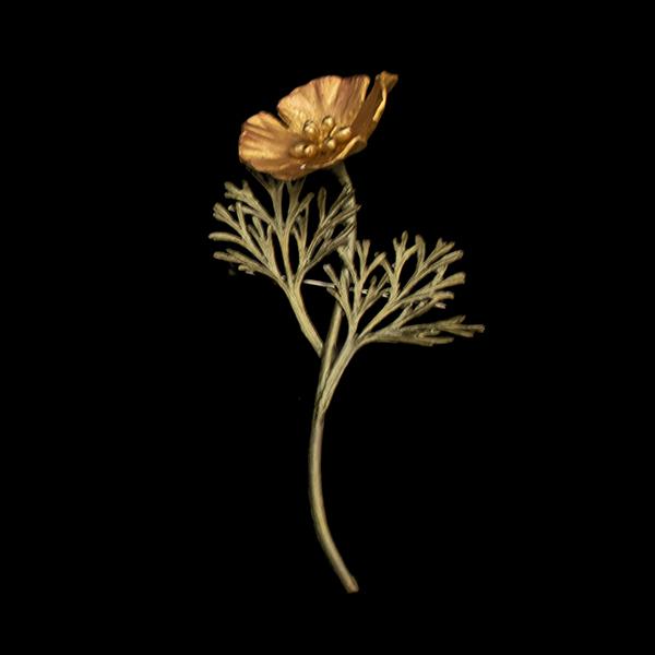 California Poppy Brooch