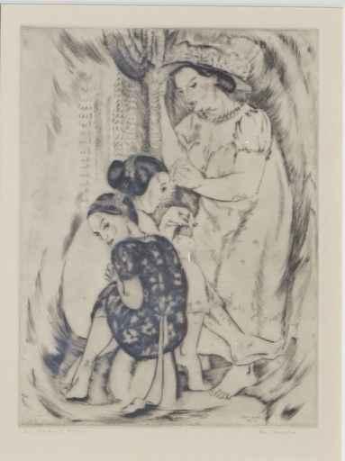 Lei Maker, 21/100 by  Robert Benjamin Norris (1910-2006) - Masterpiece Online