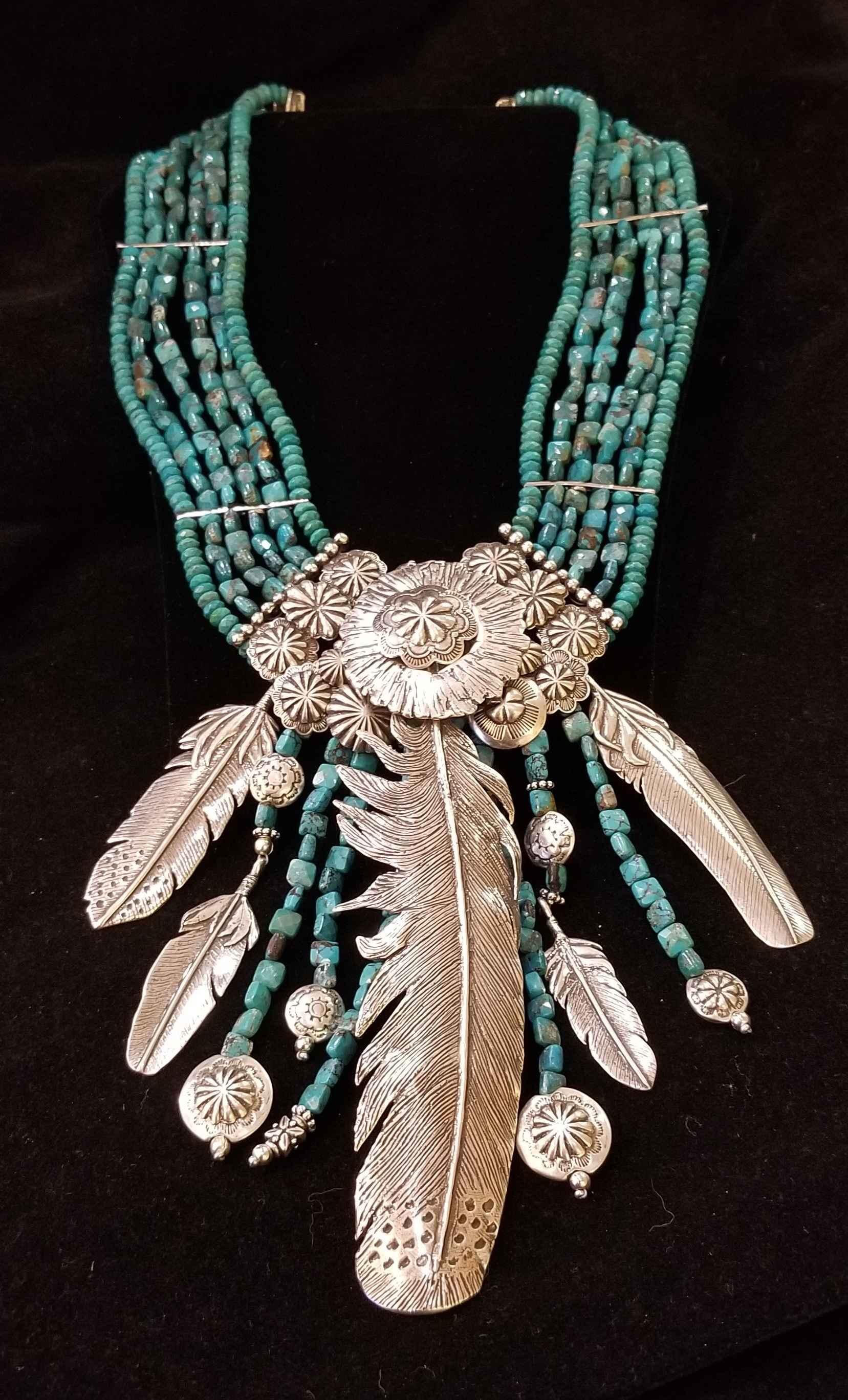 Turquoise & Silver Ne... by  Mummy's Bundle - Masterpiece Online