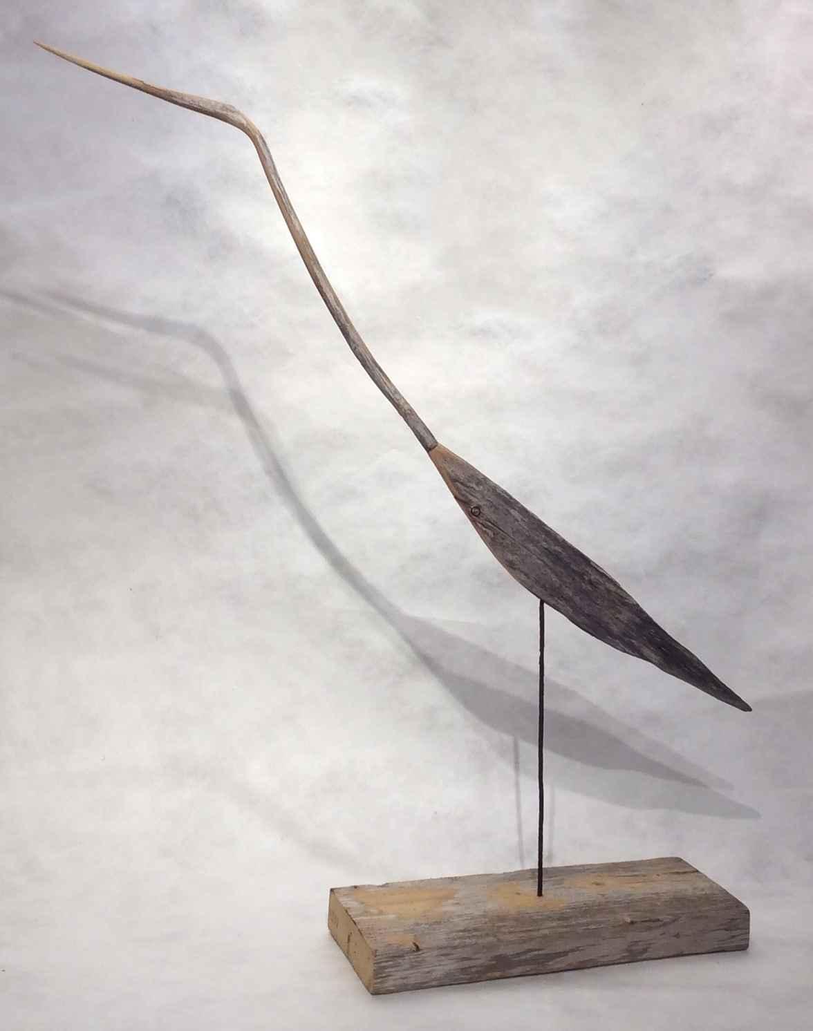 Weatherstick Heron by  Dan West - Masterpiece Online