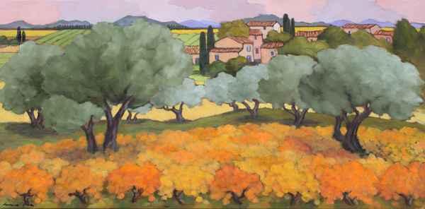Les Oliviers Pres du ... by  Lorraine  Jordan - Masterpiece Online