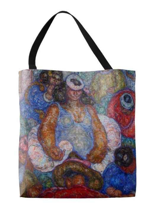 Tote bag, Lei Queen F... by  Madge Tennent (1889-1972) - Masterpiece Online