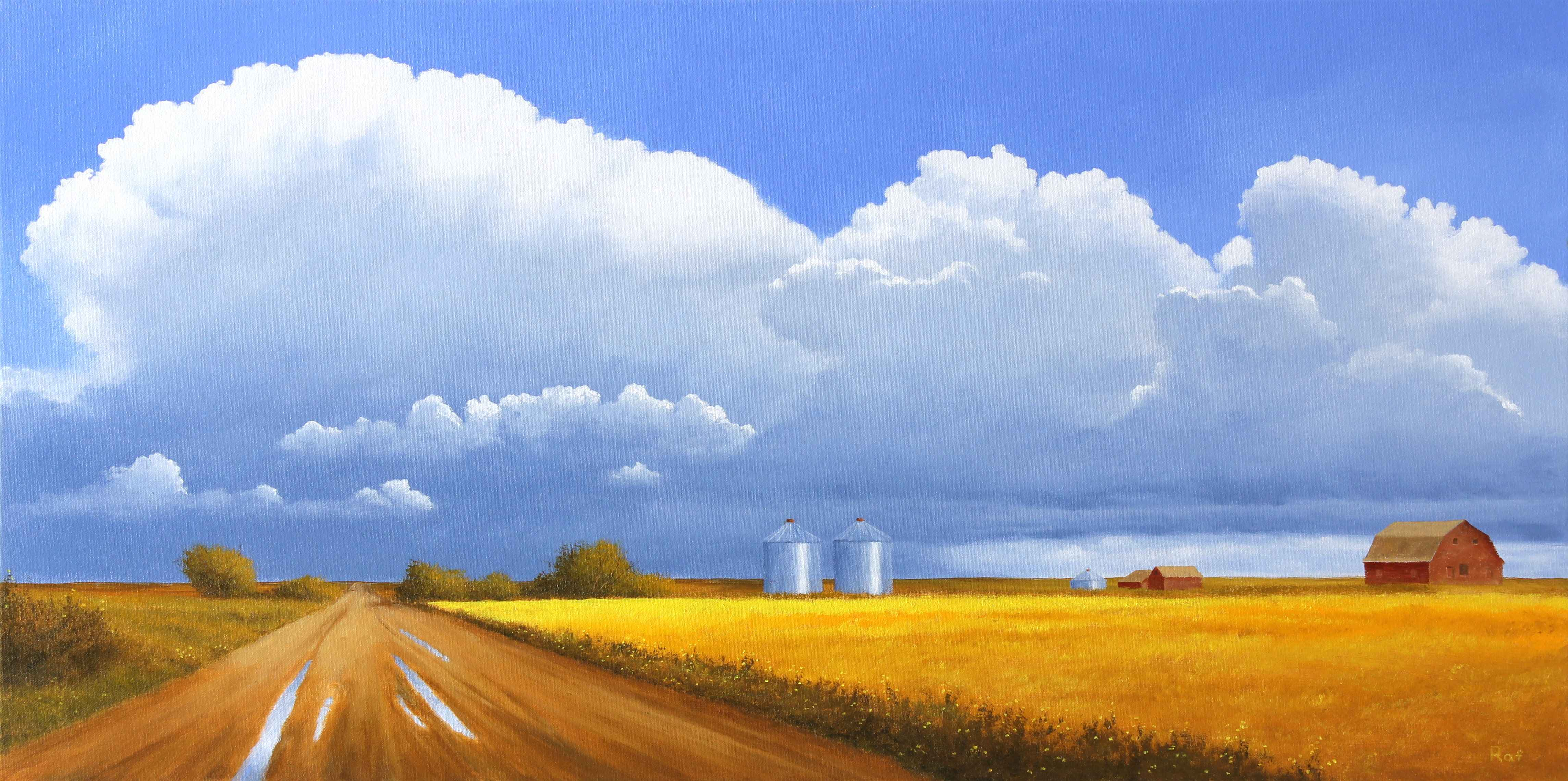 Canola and Showers  by  Ted Raftery