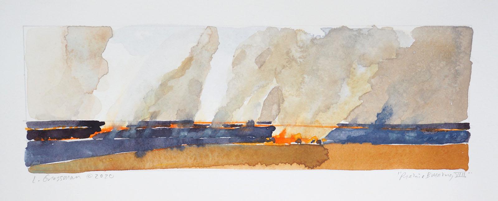 Prairie Burning VIII by  Lisa Grossman - Masterpiece Online