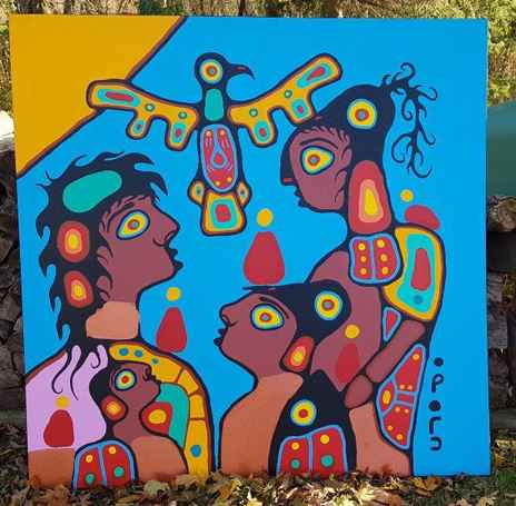 Woodland Family by  Christian Morrisseau - Masterpiece Online