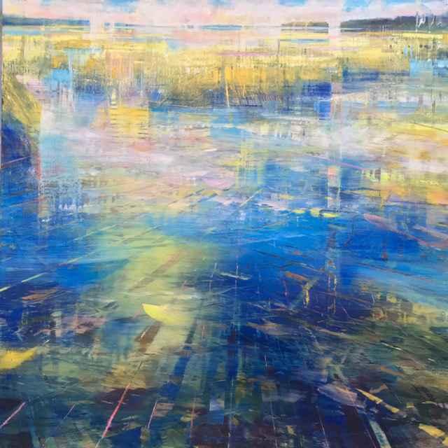 Shoreline Grasses  by  David Dunlop